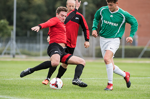 Staffs based 1 Signal Regt win initial Army Units Champions League Cup Final.