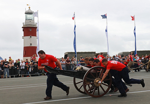 The Royal Navy and partners will have the largest presence at Armed Forces Day with an impressive Royal Navy Village on the Hoe The attractions include Military Medics, Civilian heritage centre, Explosives experts and the MOD Police, Dynamic excitement will come with the field gun competition between HM Naval Base, Devonport and a team comprising HMS Iocean and HMS Raleigh sailors and mariines both teams will do battle in the arena with MOD Corsham.