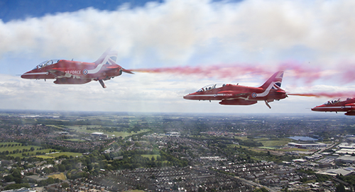 Annual Armed Forces Day (AFD) is upon us (24th June 2017), this year it is being hosted by Liverpool. To celebrate AFD the Red Arrows are doing a flypast over Liverpool and Doncaster, before heading onto Scarborough to perform a display. Pictured here are the Red Arrows in formation over Doncaster, images taken from Red 10's jet who is also in the formation. Armed Forces Day, now in its ninth year, is an opportunity to say thank you to the entire Armed Forces community for the outstanding work they do; both Service personnel and veterans. Service in the Armed Forces, past or present, is recognised and appreciated by the nation. This year is a record Armed Forces Day with over 300 events planned across the UK and overseas. This shows that the British public want to continue to show their appreciation for those who dedicate their lives to defending their country and keeping British people safe. Our Armed Forces are deployed around the world, in over 20 operations, in 25 countries and often in dangerous and difficult conditions. But where they can, they too will mark Armed Forces, both in the UK and abroad. Their contribution is worth celebrating. Liverpool is a proud maritime city and a great place to hold the national event of Armed Forces Day. So many people have turned out to say thank you but also learn more about our work, kit and people.